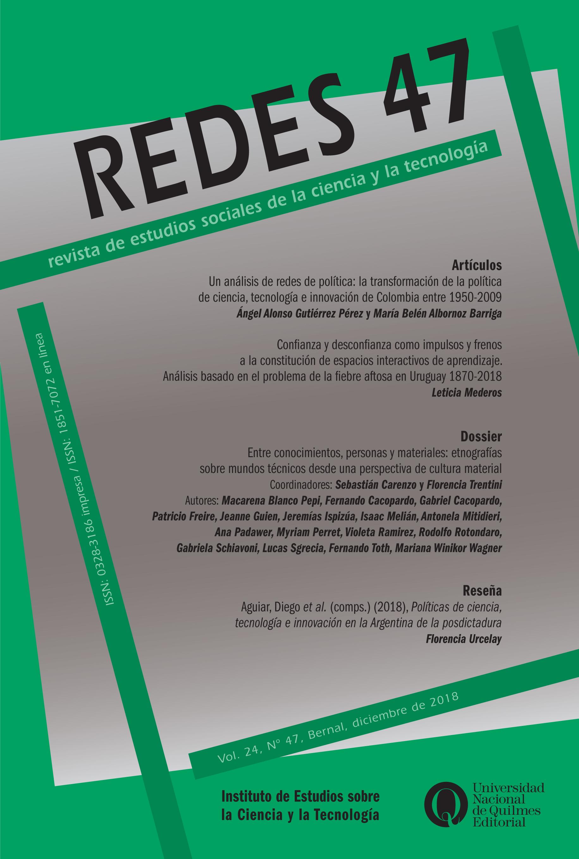 Ver Vol. 24 Núm. 47 (2018): REDES N° 47
